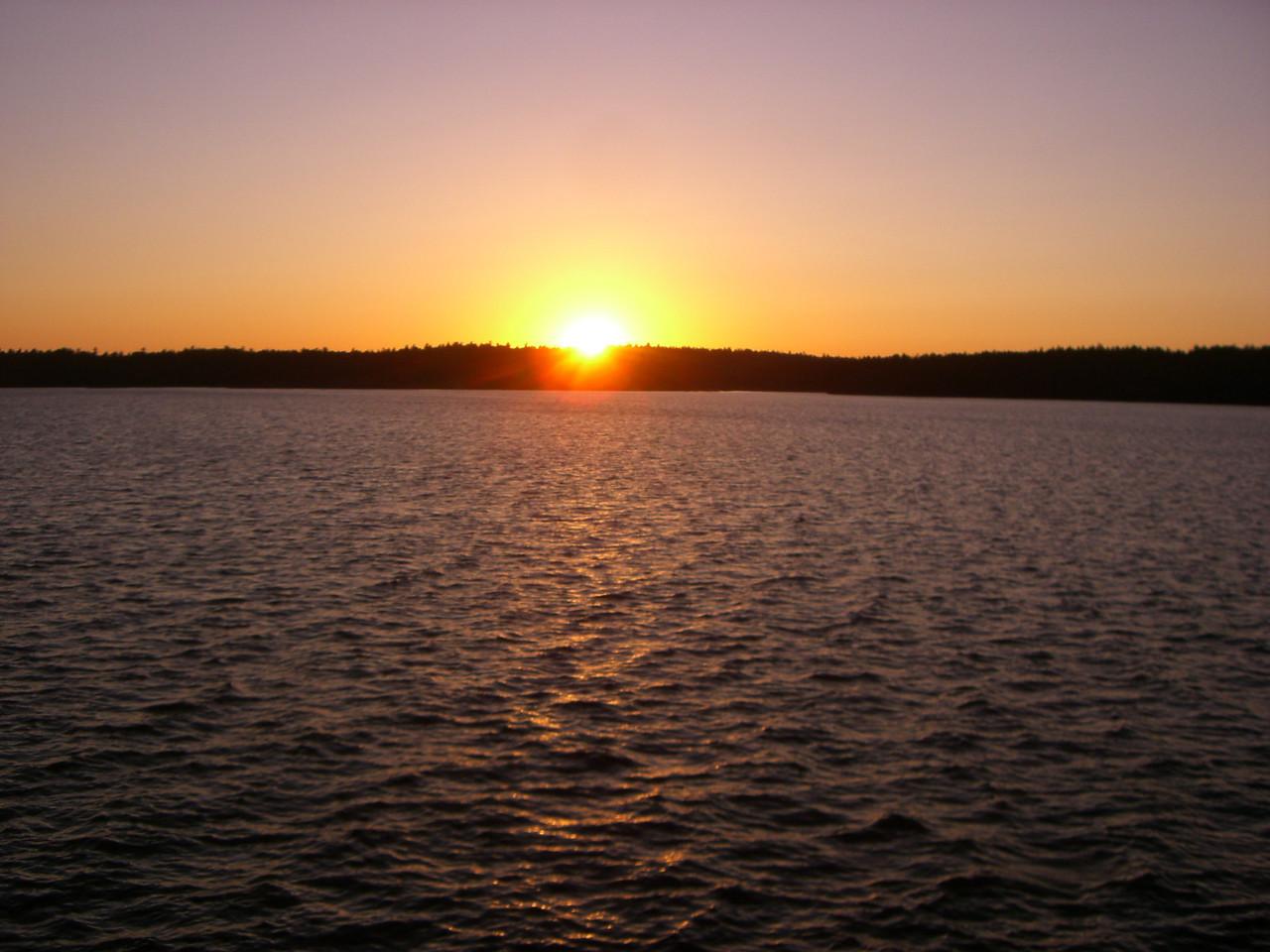 Sunset at North Bay.