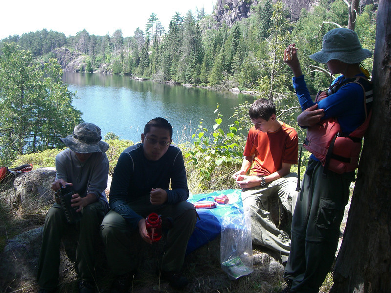 Lunch on Agnes Lake