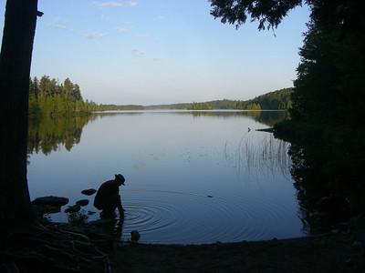 Daybreak to Sunday Lake, second day.