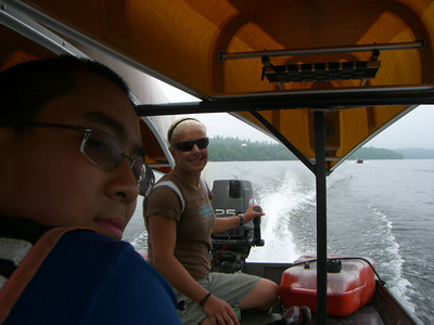 Justin rode in the wrong shuttle boat.