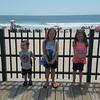 Joshua Jr. and Izabelle Munoz with Lacey Kaanta on vacation in Seaside Heights in New Jersey.