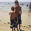 Tyler  and Blake West at our annual summer vacation spot in Dennisport.