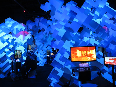 Indie game exhibits where visitors can try out various independently produced video games.