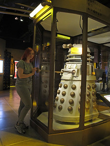 Karolina is a fan of Doctor Who. I had to take more than a dozen picures of her with this Dalek.