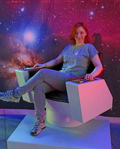 Karolina in the captain's chair in the EMP (Experience Music Project and Science Fiction Museum), now renamed to Museum of Pop Culture. This was a part of the newly opened Star Trek exhibit.