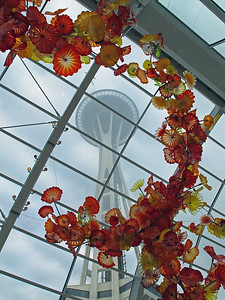 In the Chihuly Garden and Glass exhibit in the  Seattle Center.