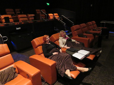 This is at iPic Theaters in the Redmond Town Center where we went after visiting the Japanese Garden. A great place to see a movie!
