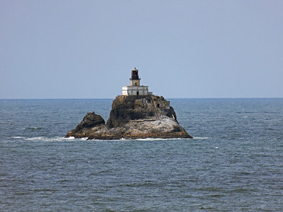 Tillamook lighthouse visible from Cannon Beach and Ecola State Park. No longer in use.