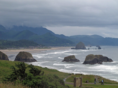 View of Cannon Beach from Ecola State Park.