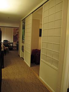 Our 1-bedroom suite in Hotel Kabuki in Japantown in San Francisco.