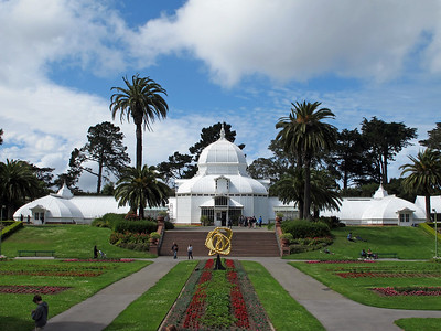 Victorian-era greenhouse of the Conservatory of Flowers.