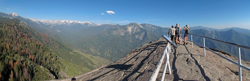 On the summit of Moro Rock. The view is amazing.