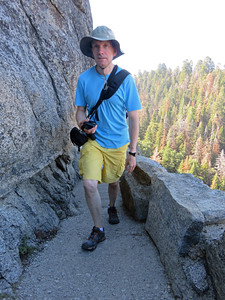 Climbing to the top of Moro Rock. Taken by Karolina.