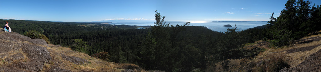 Panorame from the summit of Goose Rock.