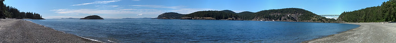 180-degree panorama of the North Beach at Deception State Park.