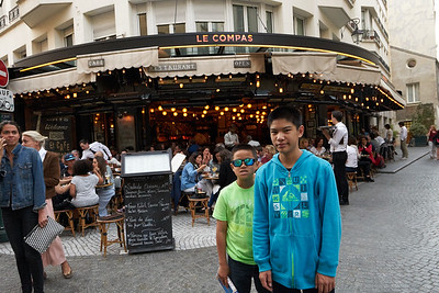Le Compas is our 1st dining Experience in Paris : meal: 71 EUR,  Expensive and very ordinary