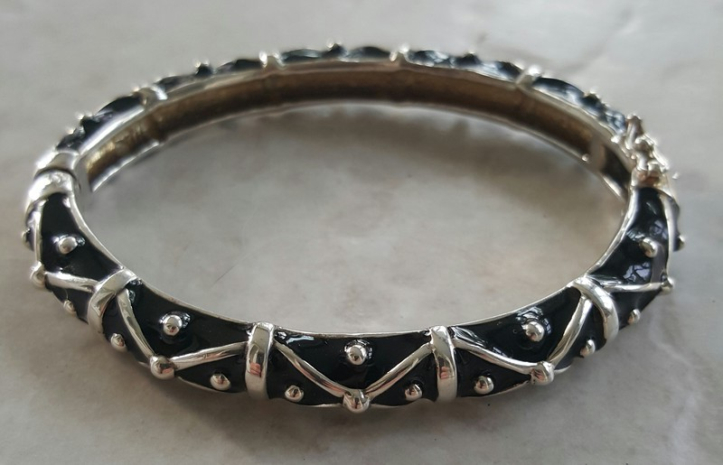 Sterling and enamel bracelet