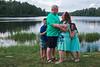 hugs at the lake