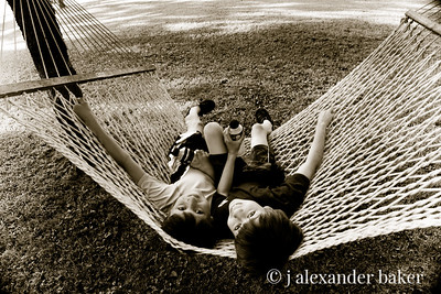 Cousins in the hammock