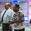 Pastor George Rodriguez and Janet Payne during a luncheon to celebrate the end of summer camp at New Life Spanish Christian Church in Fitchburg on Friday, July 28, 2017. SENTINEL & ENTERPRISE / Ashley Green