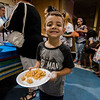 Esteban Duarte, 5, waits in line during a luncheon to celebrate the end of summer camp at New Life Spanish Christian Church in Fitchburg on Friday, July 28, 2017. SENTINEL & ENTERPRISE / Ashley Green