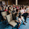 Families listen to speakers during a luncheon to celebrate the end of summer camp at New Life Spanish Christian Church in Fitchburg on Friday, July 28, 2017. SENTINEL & ENTERPRISE / Ashley Green