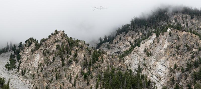 Cloud Covered Mountiantops ~ Colorado