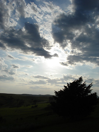 Beautiful skies above Niobrara State Park.