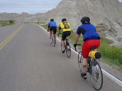 The start of our ride in Badlands National Park.