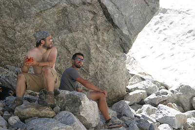 Wes and Cliff take it easy on our Middle Teton hike.