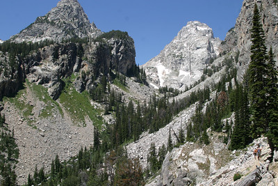 Continuing the ascent up Middle Teton.
