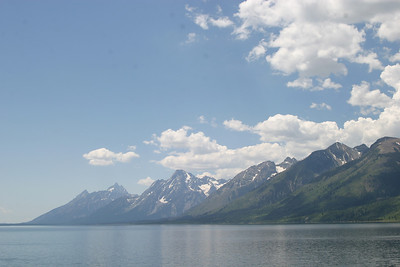 A view of the Tetons.  Jackson Hole, WY.