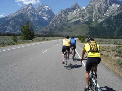 Our first and only bike ride in Grand Teton National Park.