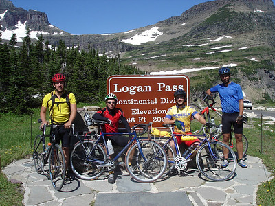 A more subdued celebration of our ride up Going to the Sun.  Glacier National Park.