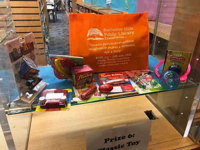 Prizes offered for youths who complete certain reading levels this summer at the Rochester Hills Public Library in downtown Rochester. Photo by Stephen Frye / Digital First Media