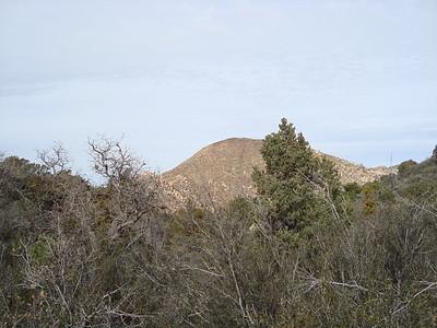 1st glimpse of Little Granite Mtn