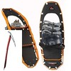 I put on my snowshoes and ensure I have my hiking ax for steep hills and cliffs;  Camp Corsa nanotech ice ax and MSR ascent snowshoes.