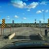 Cross the railroad track