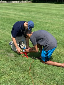 Launching Rockets on West Field with Mr. Loomer