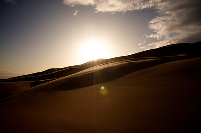 Sunset over Great Sand Dunes National Park, Colorado.