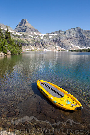 Stand Up Paddleboard adventure to Hidden Lake, Glacier National Park.