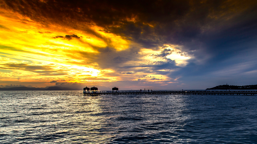 Sunset in Kusadasi Turkey