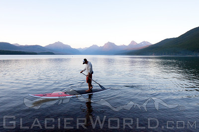 Stand up Paddler at Glacier National Park