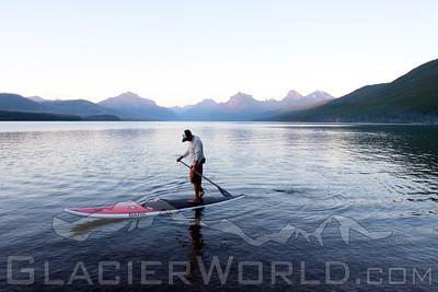 Stand up Paddler at Glacier National Park