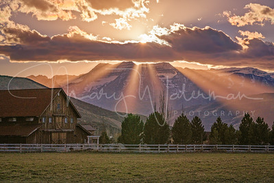 God's Rays in Heber Valley