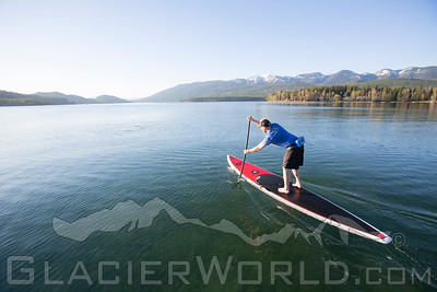 Stand Up Paddlers on Whitefish Lake, MT