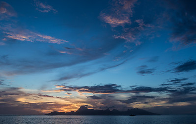 Sunset Moorea.