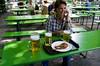 One beer, two radlers and a turkey thigh, Englischer Garten, Munich