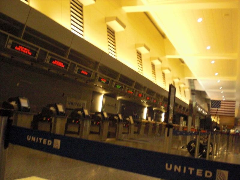 Airport pretty empty from 12:30-3:30AM...Boston Logan