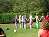 Beija far left end in purple and pink